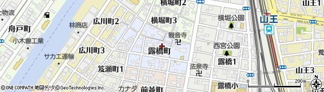 愛知県名古屋市中川区露橋町周辺の地図