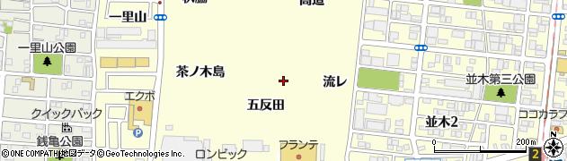愛知県名古屋市中村区岩塚町(五反田)周辺の地図
