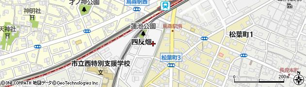 愛知県名古屋市中川区烏森町(四反畑)周辺の地図