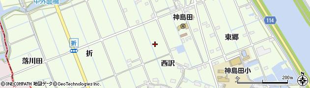 愛知県津島市中一色町周辺の地図