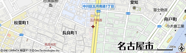愛知県名古屋市中川区五月南通周辺の地図