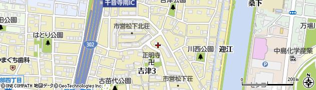 愛知県名古屋市中川区吉津周辺の地図