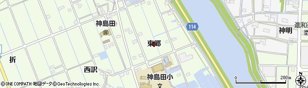 愛知県津島市中一色町(東郷)周辺の地図