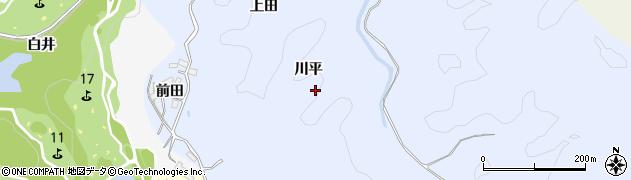 愛知県豊田市葛町(川平)周辺の地図