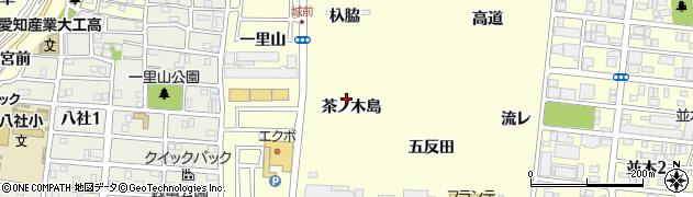 愛知県名古屋市中村区岩塚町(茶ノ木島)周辺の地図