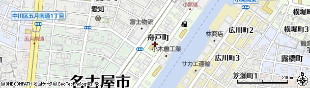 愛知県名古屋市中川区舟戸町周辺の地図