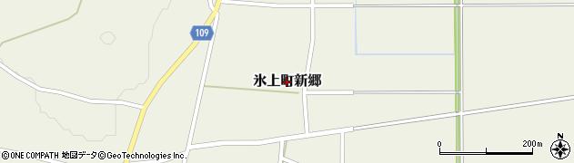 兵庫県丹波市氷上町新郷周辺の地図