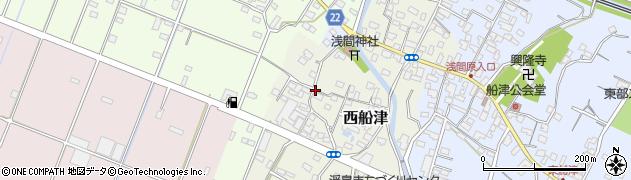 静岡県富士市西船津周辺の地図
