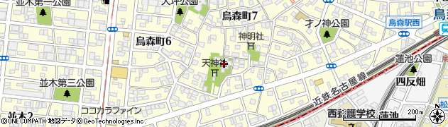 禅養寺周辺の地図