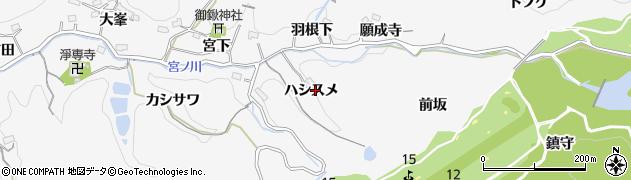 愛知県豊田市小峯町(ハシスメ)周辺の地図