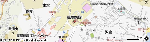 千葉県勝浦市周辺の地図