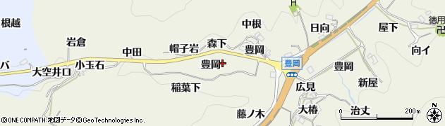愛知県豊田市富岡町(豊岡)周辺の地図