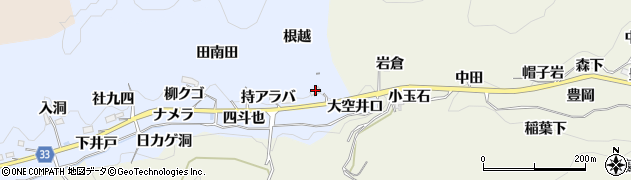愛知県豊田市足助白山町(柿ケ田)周辺の地図