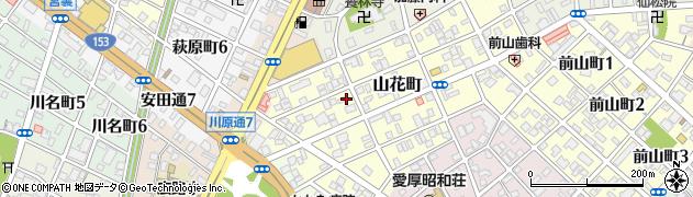 愛知県名古屋市昭和区山花町周辺の地図