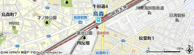 愛知県名古屋市中川区烏森町(八幡廻)周辺の地図