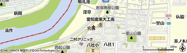 愛知県名古屋市中村区岩塚町(宮前)周辺の地図
