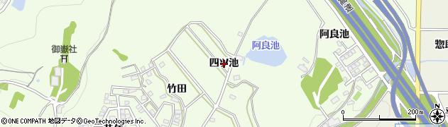 愛知県日進市岩崎町(四ツ池)周辺の地図