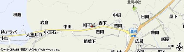 愛知県豊田市富岡町(帽子岩)周辺の地図