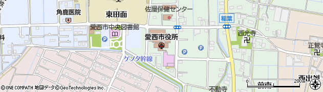 愛知県愛西市周辺の地図