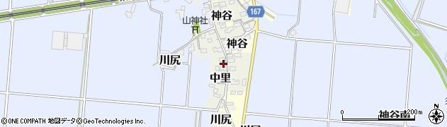 静岡県富士市川尻周辺の地図