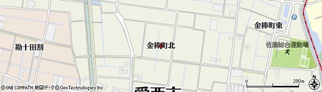 愛知県愛西市金棒町(北)周辺の地図