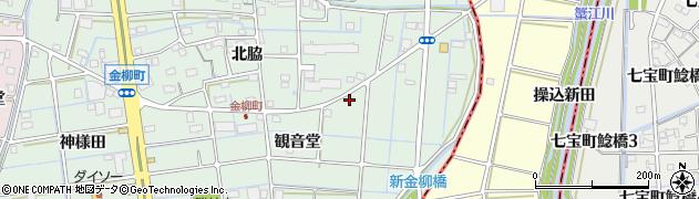 愛知県津島市金柳町周辺の地図