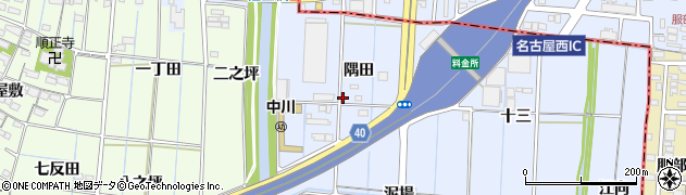 愛知県あま市七宝町伊福(隅田)周辺の地図