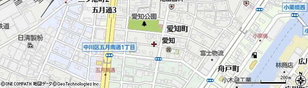 愛知県名古屋市中川区愛知町周辺の地図