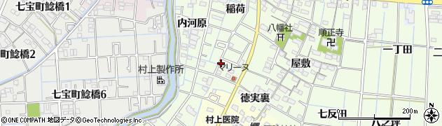 愛知県あま市七宝町下之森周辺の地図