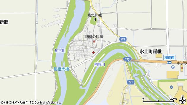 〒669-3466 兵庫県丹波市氷上町稲継の地図