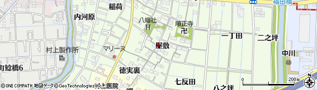 愛知県あま市七宝町下之森(屋敷)周辺の地図