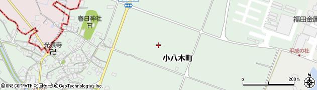 滋賀県東近江市小八木町周辺の地図