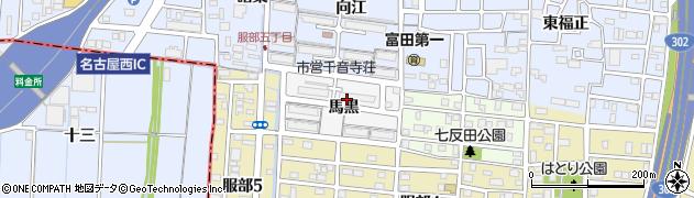 愛知県名古屋市中川区富田町大字服部周辺の地図