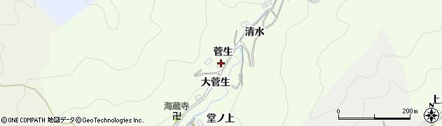 愛知県豊田市菅生町(菅生)周辺の地図