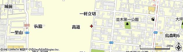 愛知県名古屋市中村区岩塚町一軒立切周辺の地図