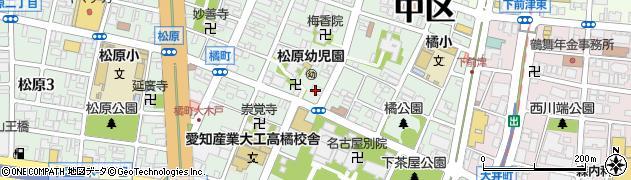 愛知県名古屋市中区橘周辺の地図