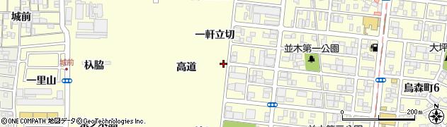 愛知県名古屋市中村区岩塚町(一軒立切)周辺の地図