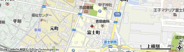静岡県富士市富士町周辺の地図
