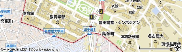 愛知県名古屋市千種区山手通周辺の地図