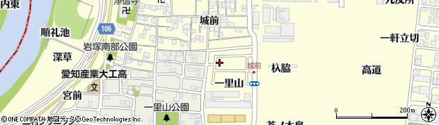 愛知県名古屋市中村区岩塚町一里山周辺の地図