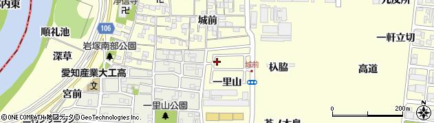 愛知県名古屋市中村区岩塚町(一里山)周辺の地図