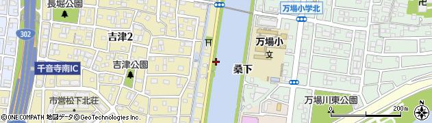 愛知県名古屋市中川区富田町大字万場(桑下)周辺の地図