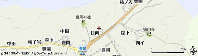 愛知県豊田市富岡町(日向)周辺の地図