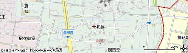 愛知県津島市金柳町(北脇)周辺の地図