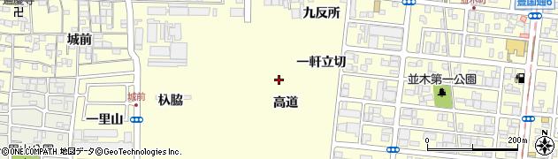 愛知県名古屋市中村区岩塚町(高道)周辺の地図