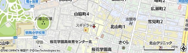 愛知県名古屋市昭和区北山本町周辺の地図
