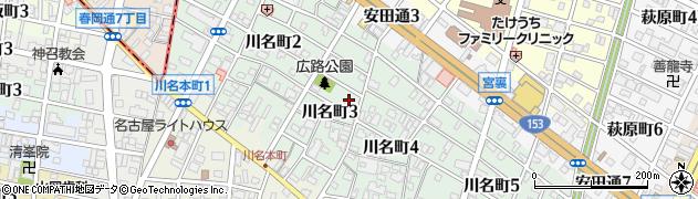 愛知県名古屋市昭和区川名町周辺の地図