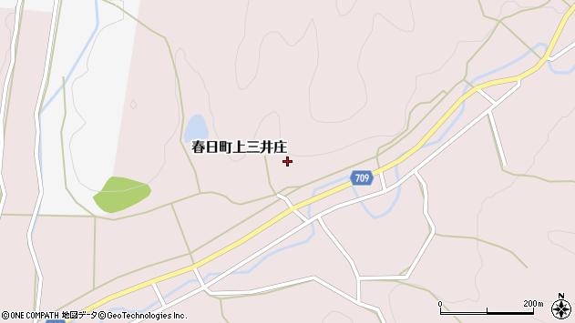 〒669-4251 兵庫県丹波市春日町上三井庄の地図