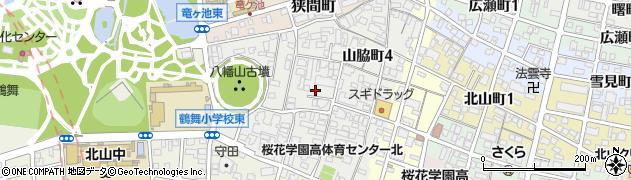 愛知県名古屋市昭和区山脇町周辺の地図