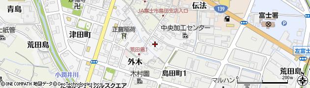 静岡県富士市荒田島周辺の地図